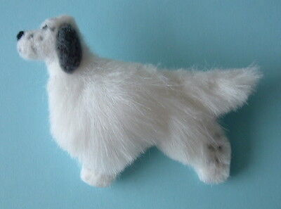ENGLISH SETTER dog Part NEEDLE FELTED PIN BROOCH