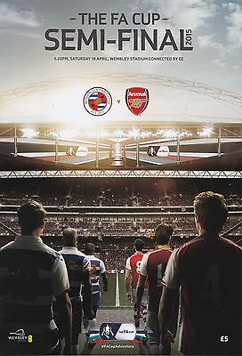 2015 FA CUP SEMI-FINAL - ARSENAL v READING - OFFICIAL MATCH PROGRAMME