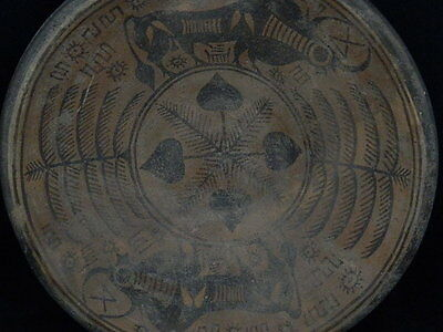 Ancient Huge Size Teracotta Painted Plate With Bulls Indus Valley 2500 BC #S3204