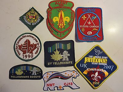 Boy Scout patches, Canada, Northwest Territory, Yellowknife,Quinte Region,
