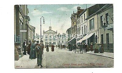 Bedfordshire: Luton : George Street & Town Hall - Old Postcard
