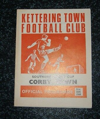 Kettering v Corby Southern League Cup 1968