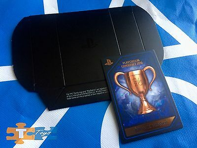 PlayStation Experience 2016 Anaheim 041 Bronze Trophy Collectors Card & Box NEW
