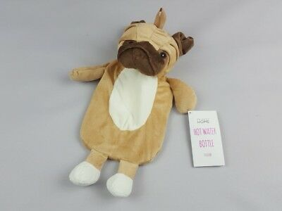 Primark  fluffy / soft - PUG DOG - Hot Water Bottle - With Bottle 1000 ml