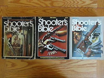 Lot of 3 Stoeger SHOOTER'S BIBLE Firearms Reference Book 1975 '80 '86 #66 71 77