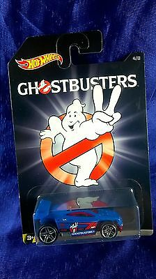 New Hot Wheels Spectyte Ghostbusters Car Diecast Blue With Spoiler On Rear