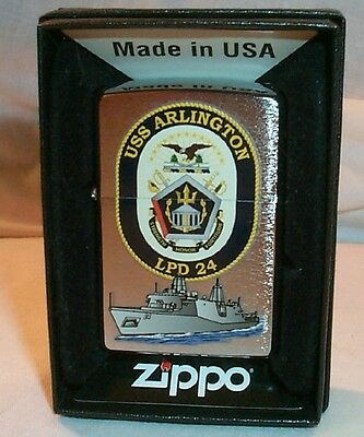 USS Arlington USS Navy Zippo Lighter LPD 24 Ship NEW