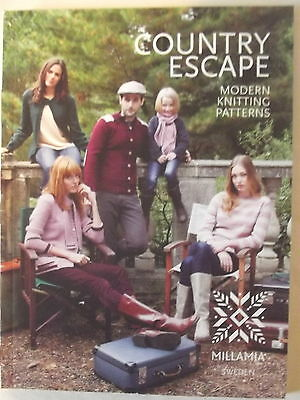 MillaMia Sweden COUNTRY ESCAPE  knitting pattern book RRP £8.00 A5 65 pages