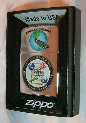 USS Enterprise Zippo LIGHTER CVN 65 US Navy Ship MINT in Box 2012 Final Cruise