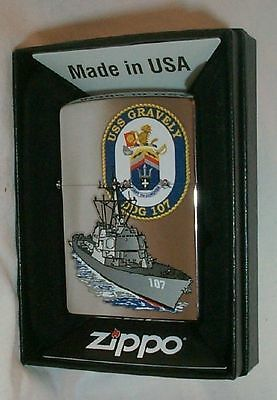 USS Gravely Navy Zippo Lighter DDG 107  -- NEW