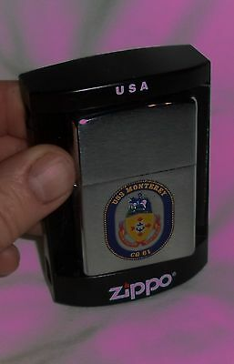 USS MONTEREY ZIPPO Lighter MINT/Box 2007 Navy Ship CG-61