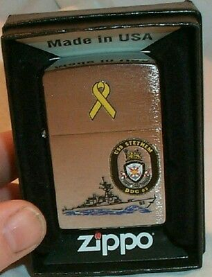 USS Stethem Zippo Lighter Navy Ship   MINT New DDG 63