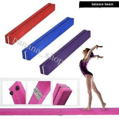 Panana Gymnastics Folding Balance Beam 2.1M Hard Faux Leather Home Gym Training