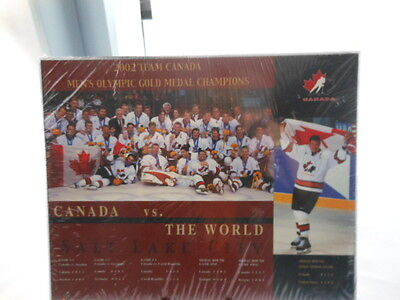 Team Canada 2002 Men's Olympic Gold Medal Champions Wooden Plaque