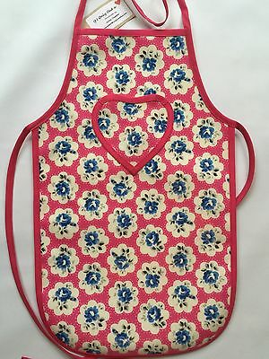 Cath Kidston Handmade 'Provence Rose Pink' Oilcloth Children's Apron Age 5-12yrs