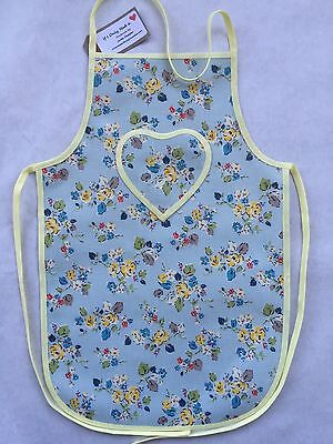 Cath Kidston Handmade 'Woodland Rose' Oilcloth Girls Apron Age 5-12 Years