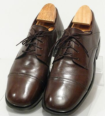 Louis Dell' Olio Men's Leather Dress Shoes Dark Brown Made In Italy Size 9-1/2 M