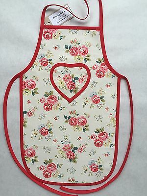 Cath Kidston Handmade Field Rose Cotton Duck Children's Apron Age 2 - 5 yrs