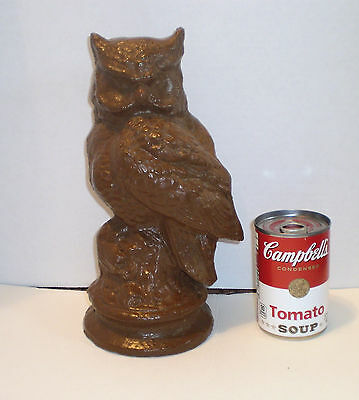 End Of The Day Ohio Stoneware  Sewer Tile  Owl Statue   Signed By Artist
