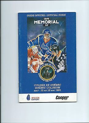 1991 Memorial Cup Official Guide in Quebec
