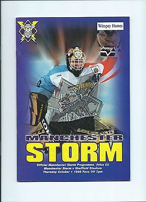 1998 Manchester Storm vSheffield Steelers Oct1st mint condition