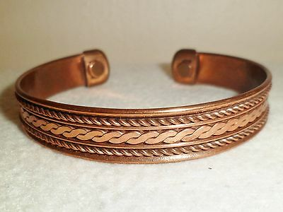 MAGNETIC COPPER THERAPY BRACELET BANGLE UNISEX RHEUMATISM ease pain