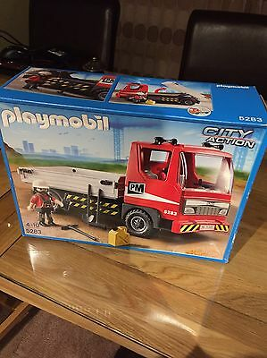 Playmobil 5283 City Action Flatbed Construction Truck