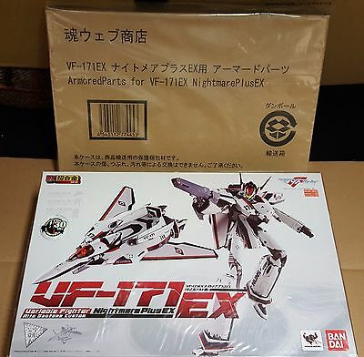 Macross Frontier dx Bandai GE-56 VF171 EX MISB + Nightmare Plus EX armored parts