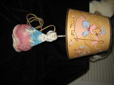 Viintage Lamp And Shade-Antique