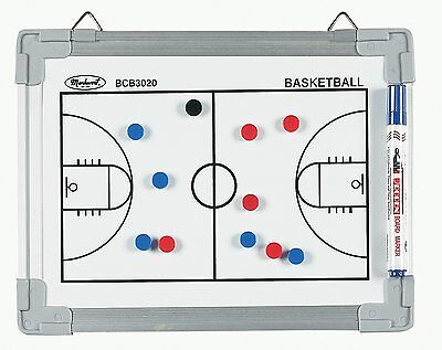 Magnetic BASKETBALL COURT Coach Coaching Dry Erase Clipboard BOARD w/ Magnets