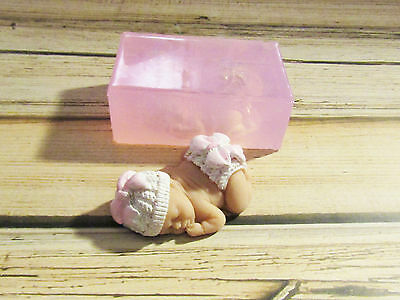 """Bow Baby 3"""" Soft Silicone Mold for Fondant, Polymer Clay, Cake Decorating"""