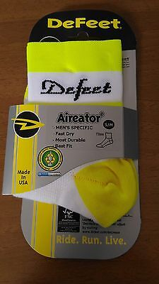 CALCETINES DEFEET AIREADOR D TEAM RETRO RACER color BLANCO-AMARILLO FLUO talla S
