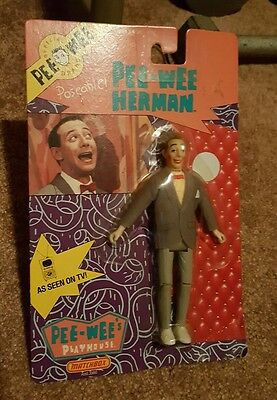 """Matchbox 1988 Pee-Wee Herman 6"""" Poseable Action Figure New On Card VINTAGE WOW"""