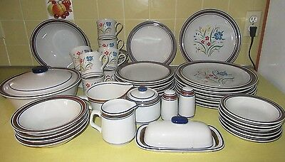 Vintage Salem Stoneware 'Georgetown' Service for 8 + Serving Pieces and EXTRAS