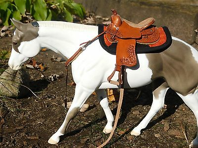 Breyer/model horse western saddle pad- checkered fall colors