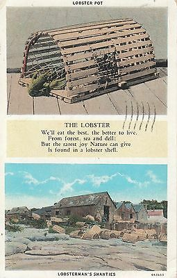 New England Lobster Pots And Shanties With Verse