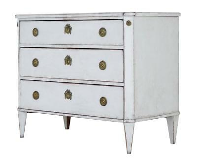 19Th Century Swedish Painted Gustavian Influenced Commode Chest Of Drawers