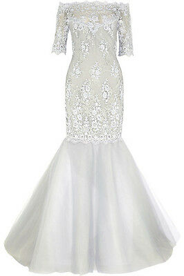 $5,500 MARCHESA Embroidered Couture Lace Gown Wedding Dress Beaded Mermaid