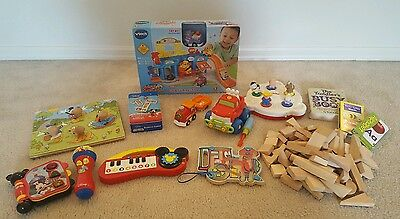 Baby Toddler Learning Toy Lot - Developmental Toys Vtech Wooden Mickey - Huge