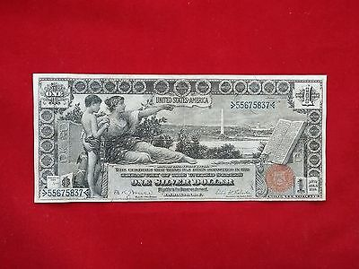 FR-224  1896 Series $1 One Dollar Silver Certificate Educational Note *VF+*