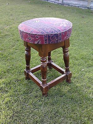 vintage wooden stool, needs tlc