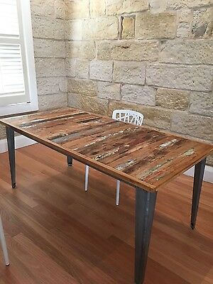 Unique reclaimed timber Dining room table
