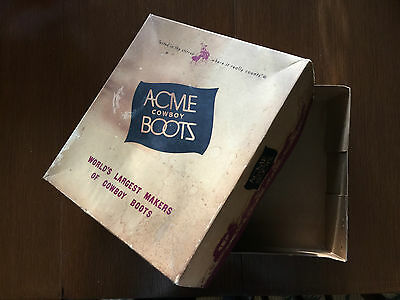 Vintage Acme Cowboy Boots Box - Box Only! No boots!