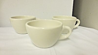 Lot 3 H F Coors USA ALOX marked White Restaurant Ware Cups #`1925
