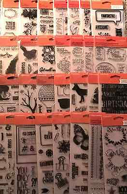 "Lot of Fiskars/Teresa Collins Clear Stamps 4"" x 8"" to choose from"