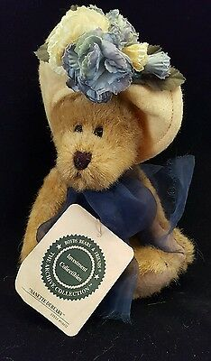 "Boyd's Bears ""nanette Dubeary"" Small Collectible Bear Hat Flowers Tags 918432"