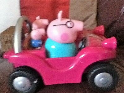 peppa pigs with car