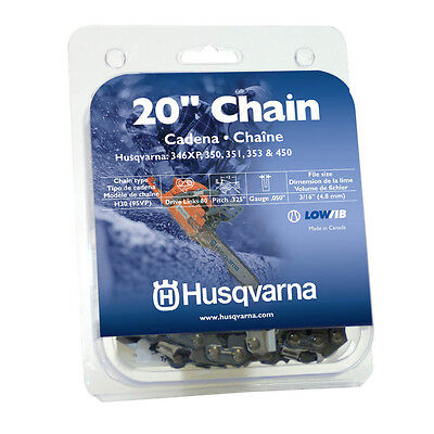 "HUSQVARNA OEM 20"" Chainsaw Chain Replacement .325"" .050"" 80DL H30 (95VP) 5313096"