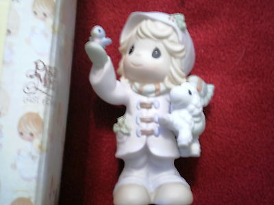 Precious Moments The Future Is In Our Hands 2000 Figurine Girl Lamb W/Box 730068