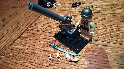 Lego Custom Ww2 japanese soldier3 with canon